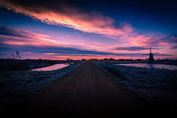 Sonnenaufgang Haastrecht von Jeffrey van Roon