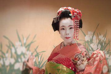 Geisha of Japanse Maiko in traditionele kimono van Kuremo Kuremo