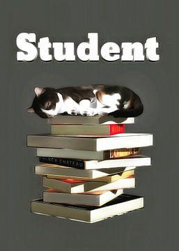Katten: Kat student van Jan Keteleer