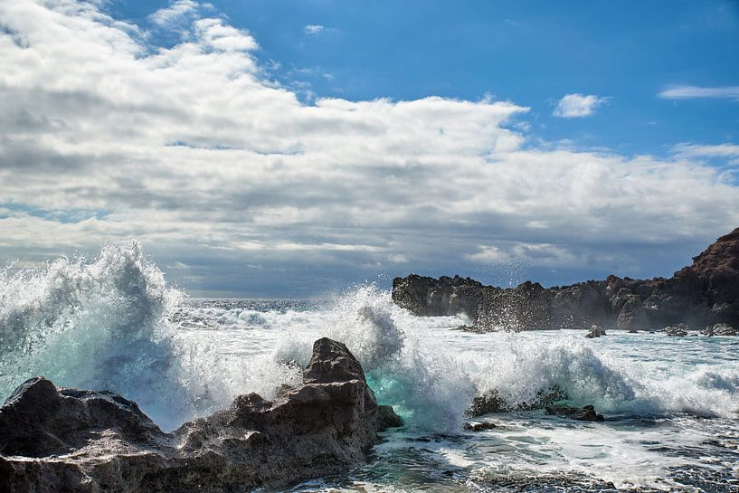 De kust van Lanzarote van Rene van Dam