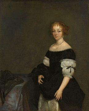 Aletta Pancras (1649-1707). Ehefrau von François de Vicq, Gerard ter Borch (II), 1670
