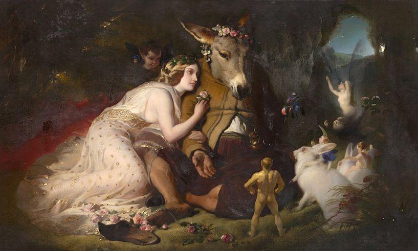 Scene from A Midsummer Night's Dream, Edwin Landseer von Meesterlijcke Meesters