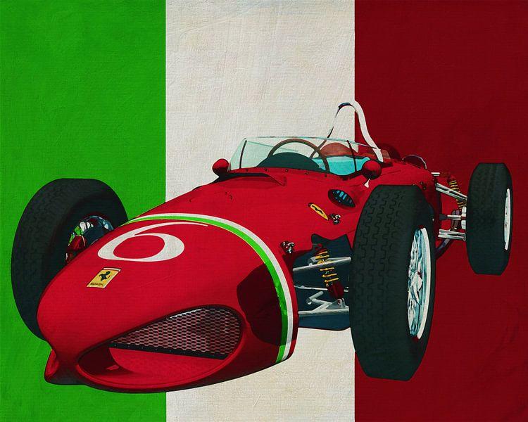 Ferrari 156 Shark Nose 1961 de racewagen die Italië op de kaart zette van Jan Keteleer