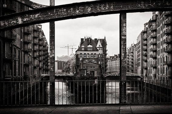 Hamburg - Speicherstadt (Black and White)