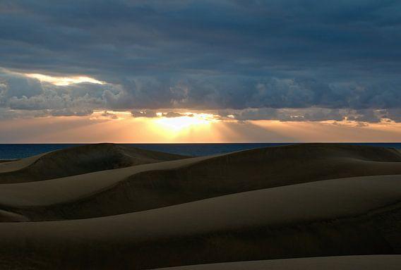 Zonsondergang strand Gran Canaria Maspalomas