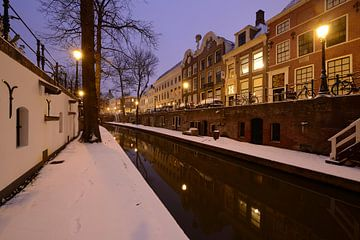 Nieuwegracht in Utrecht tussen Paulusbrug en Pausdambrug sur Donker Utrecht