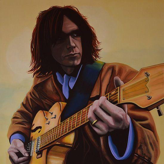 Neil Young schilderij