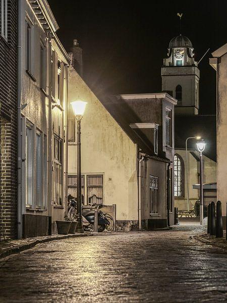 Katwijk in  de avond! van Dirk van Egmond