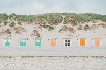 Strandhuisjes op Texel   Reisfotografie van Marjolijn Maljaars