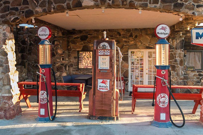 Tankstelle an der Route 66 van Kurt Krause