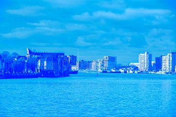 Zwijndrecht-Dordrecht - in blauw-groen tint van Ineke Duijzer