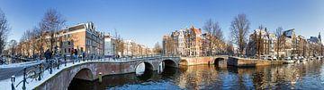Amsterdam Grachten Panorama von