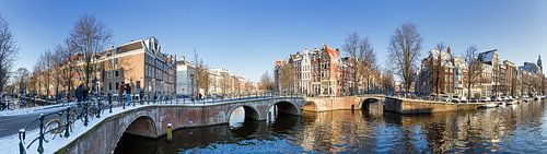 Amsterdam gracht panorama van Dennis van de Water