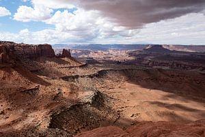 Storm boven Canyonlands, Utah