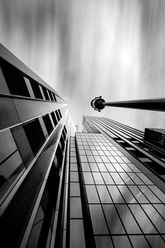 Maastoren in zwart en wit
