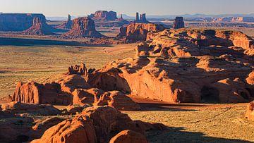 Hunts Mesa im Monument Valley von Henk Meijer Photography