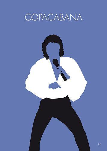 No198 MY BARRY MANILOW Minimal Music poster van