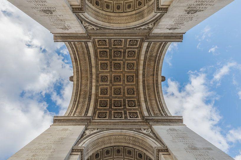 De Arc de Triomphe in Parijs van MS Fotografie   Marc van der Stelt