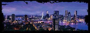 panorama Erasmus brug Rotterdam van Gerrit Neuteboom
