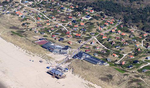 Vakantiehuisjes in de duinen van Vlieland