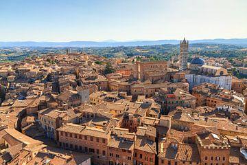 Siena stadsgezicht panorama van Dennis van de Water
