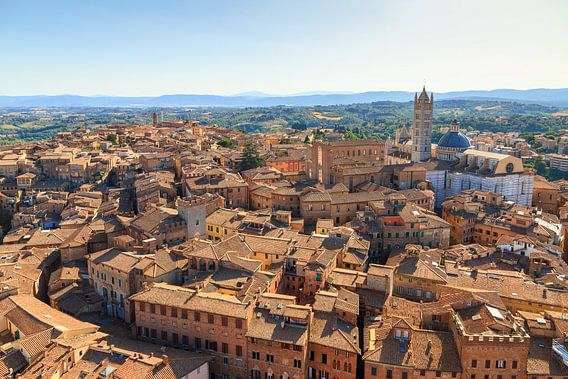 Siena stadsgezicht panorama