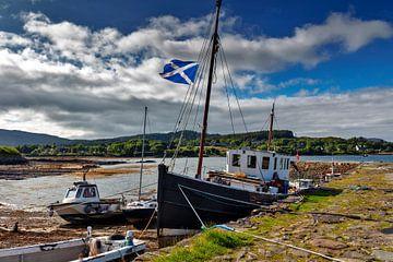 Eb vloed in de haven, Schotland van Jürgen Wiesler