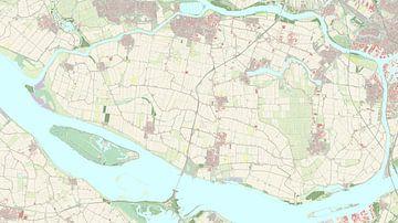 Kaart van Hoeksche Waard