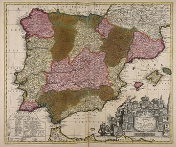 Koninkrijk Spanje en Portugal van Atelier Liesjes