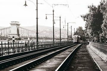 Bahngleis in Budapest von Kristof Ven