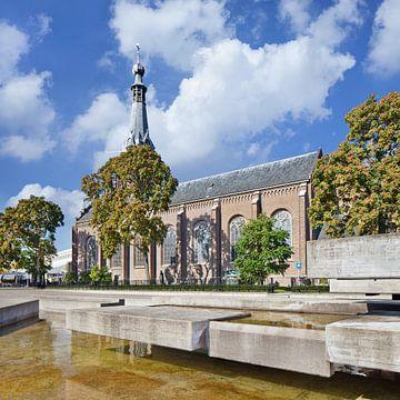 plateaux en béton devant Saint Dionysius Eglise sur Tony Vingerhoets