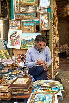 Kunstenaar in Isfahan Iran van Jeroen Kleiberg