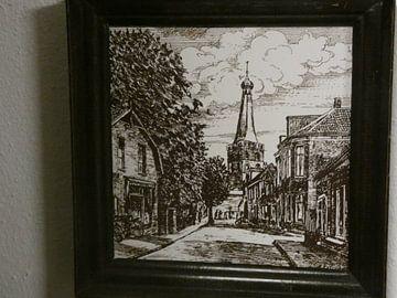Een schilderij van de Barneveldse Toren sur Wilbert Van Veldhuizen