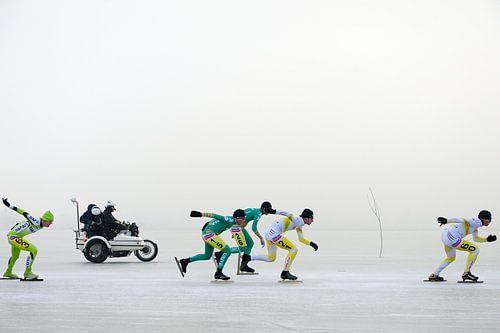 NK schaatsen 2009 op de mistige Oostvaardersplassen