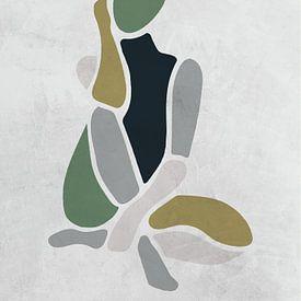 Modell / Frau sitzend grün/grau von Color Square