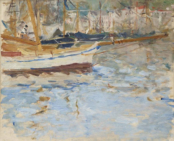 Winter 1881-1882-Der Hafen von Nizza von finemasterpiece