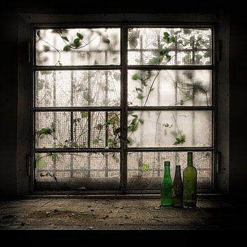 Stilleven met glazen fles, Vito Guarino van 1x
