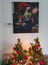 Klantfoto: Het Melkmeisje met de vaas, Vermeer en de Heem, op canvas