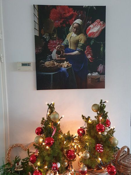 Klantfoto: Het Melkmeisje met de vaas, Vermeer en de Heem
