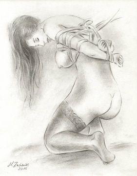 Bondage Art - erotische Aktzeichnungen von Marita Zacharias