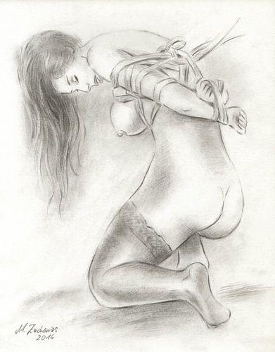 Bondage Art - erotische Aktzeichnungen van Marita Zacharias