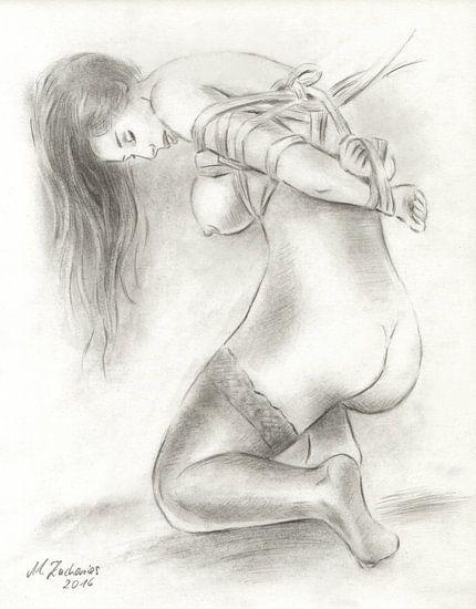 Bondage Art - erotische Aktzeichnungen
