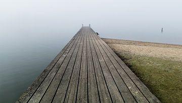 Steg im Nebel 3 von Timo Bergenhenegouwen