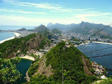 Spectaculair uitzicht over Rio de Janeiro  van Zoe Vondenhoff