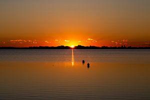 Insel Fehmarn, Sonnenuntergang, Fehmarn-eiland, zonsondergang von Karin Luttmer