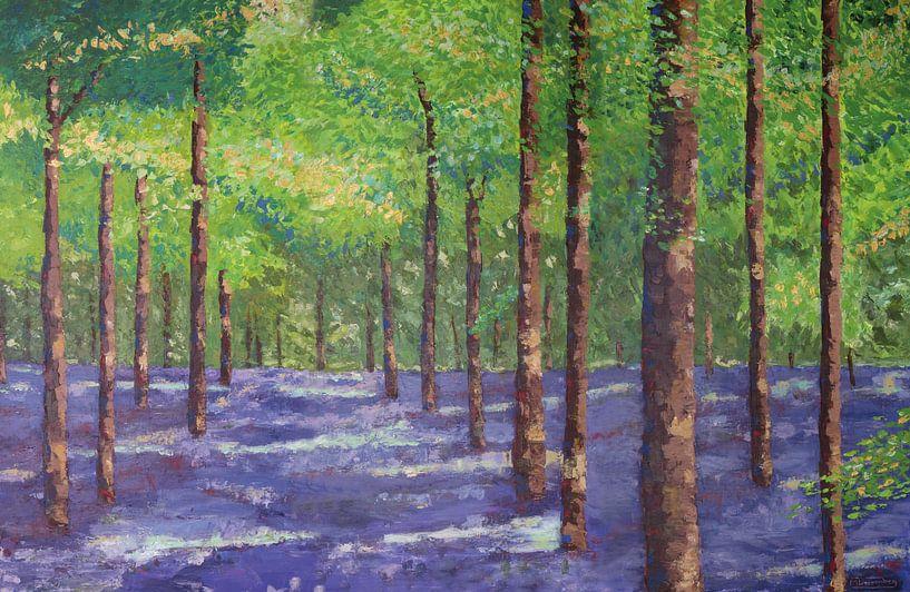 Kleurrijk bos van Marijke Doppenberg