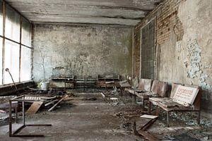Ziekenhuis wachtkamer in Pripyat