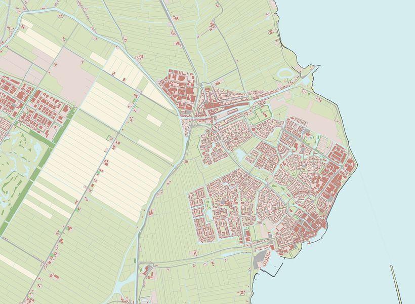 Kaart vanEdam-Volendam