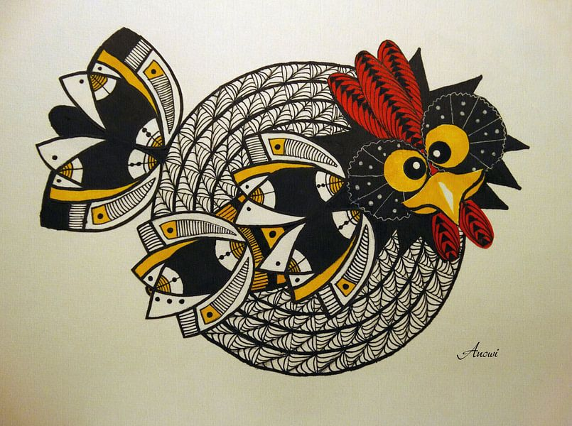 Crazy chicken 2 van Iwona Sdunek alias ANOWI