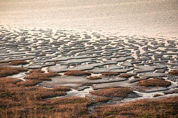 Waddenlandschap bij de Morsumse klif bij zonsondergang, Sylt van Christian Müringer